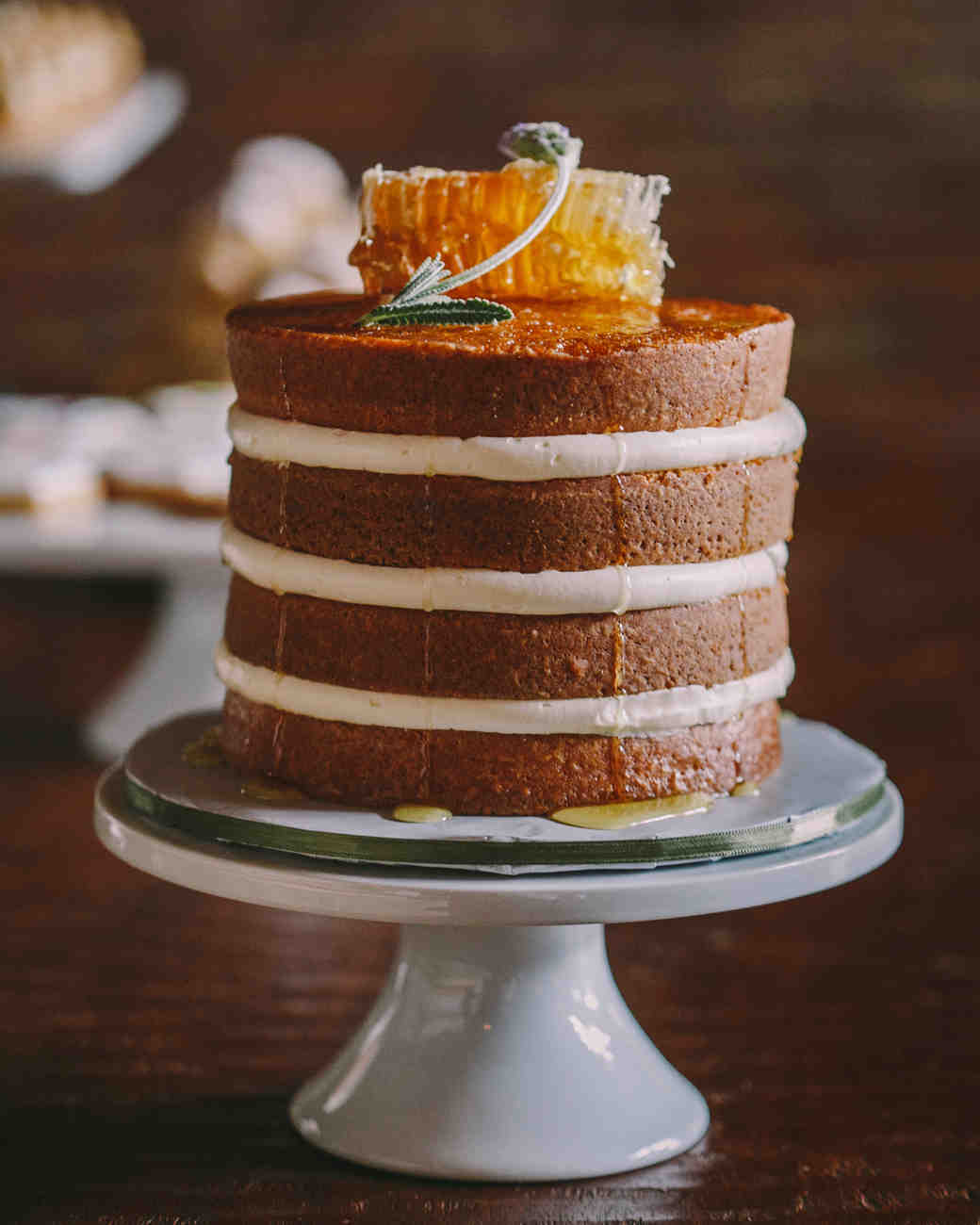 Naked Honey Wedding Cake