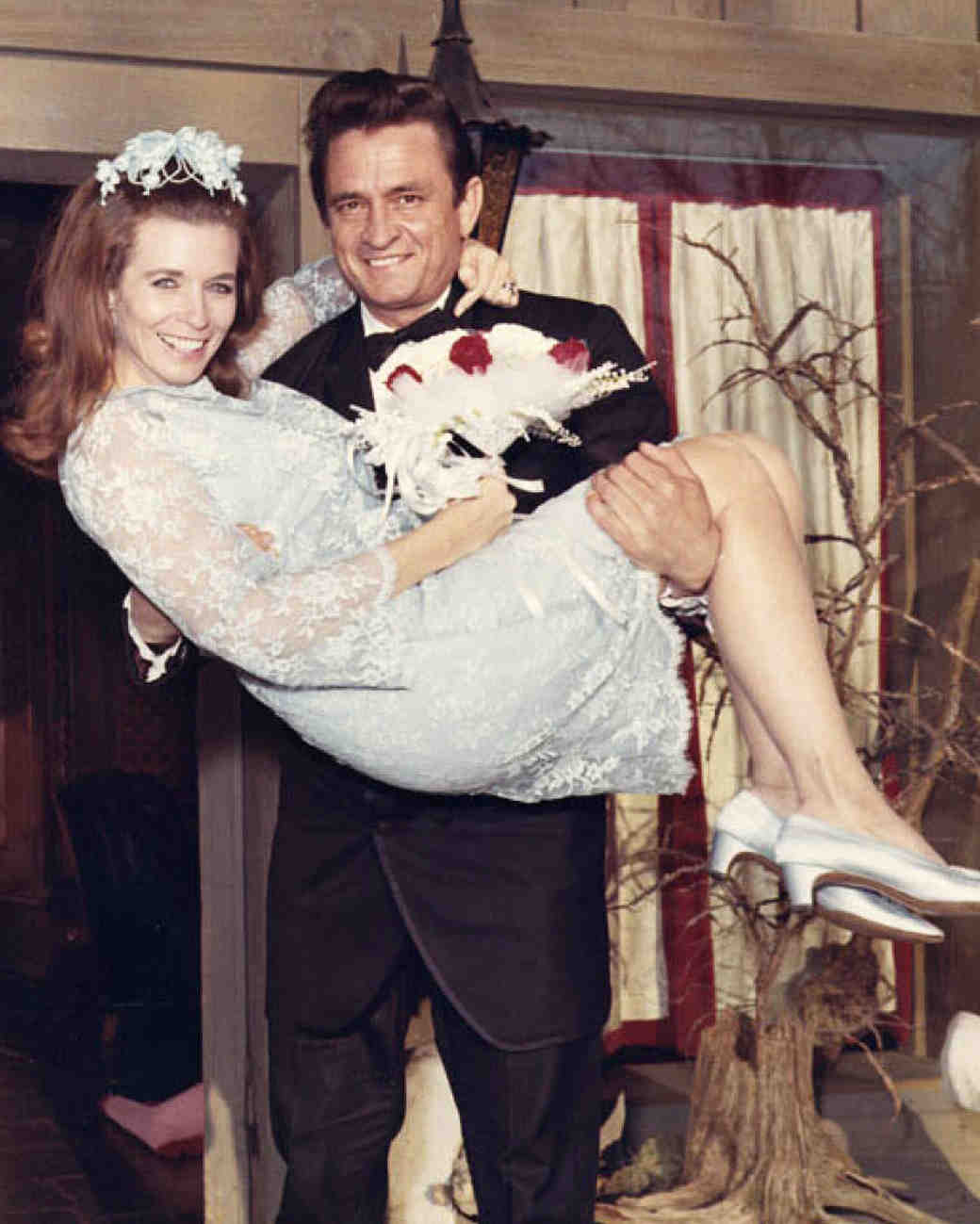 June Carter and Johnny Cash Wedding Photo