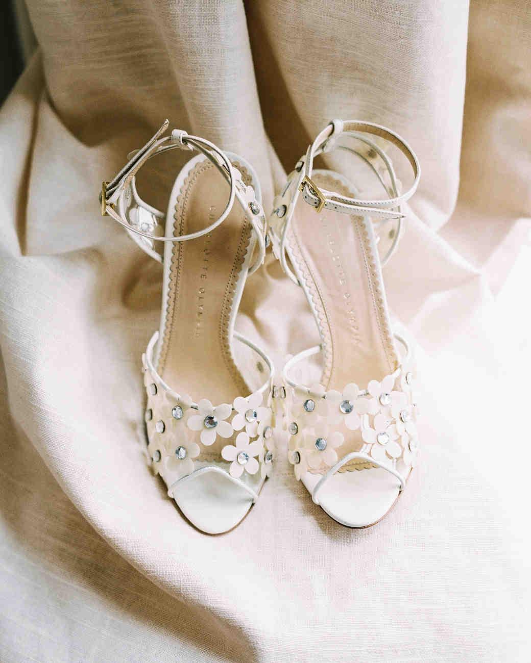 White Flower Heels