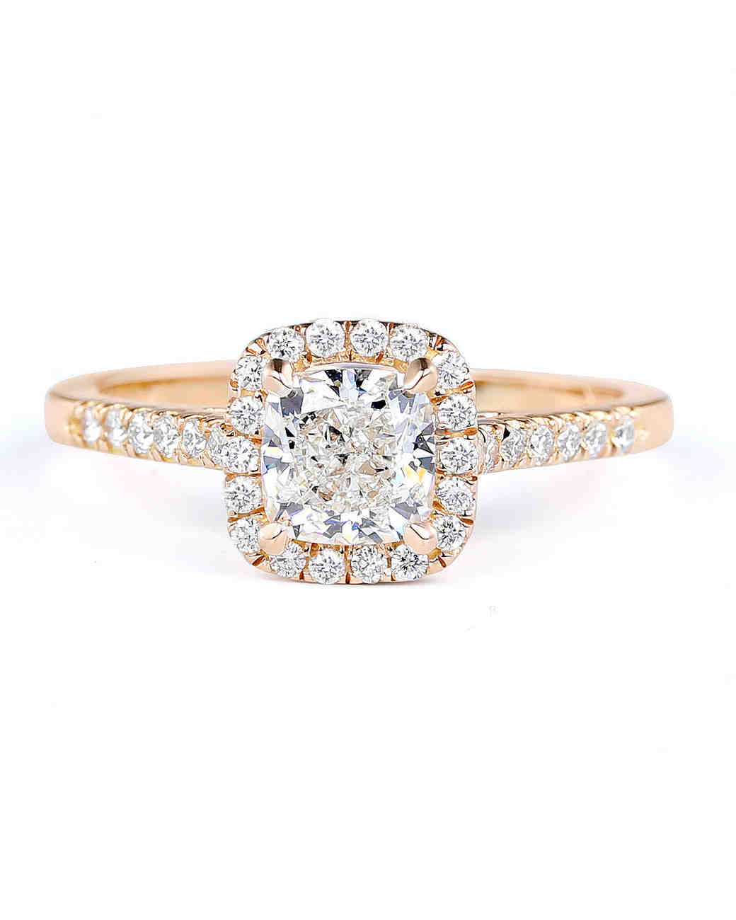 Forevermark by Premier Gem Cushion-Cut Diamond Ring with Halo Set In Rose Gold