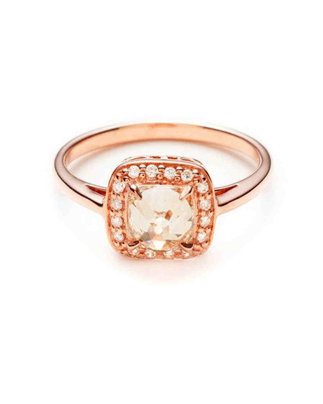 Anna Sheffield Cushion Rosette with Champagne Diamond