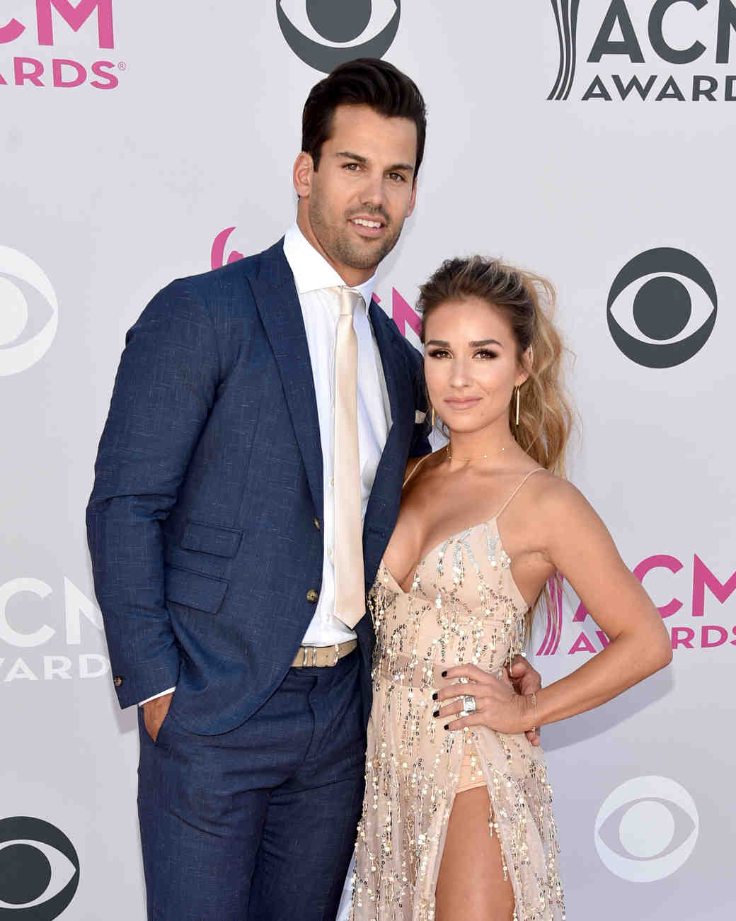 Jessie James Decker and Eric Decker at Academy of Country Music Awards