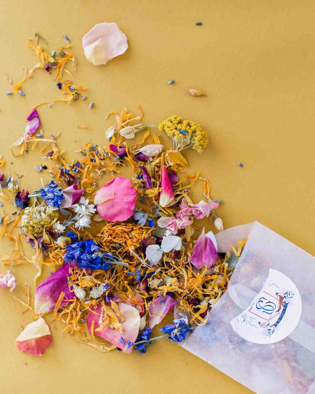 dried flowers exit toss