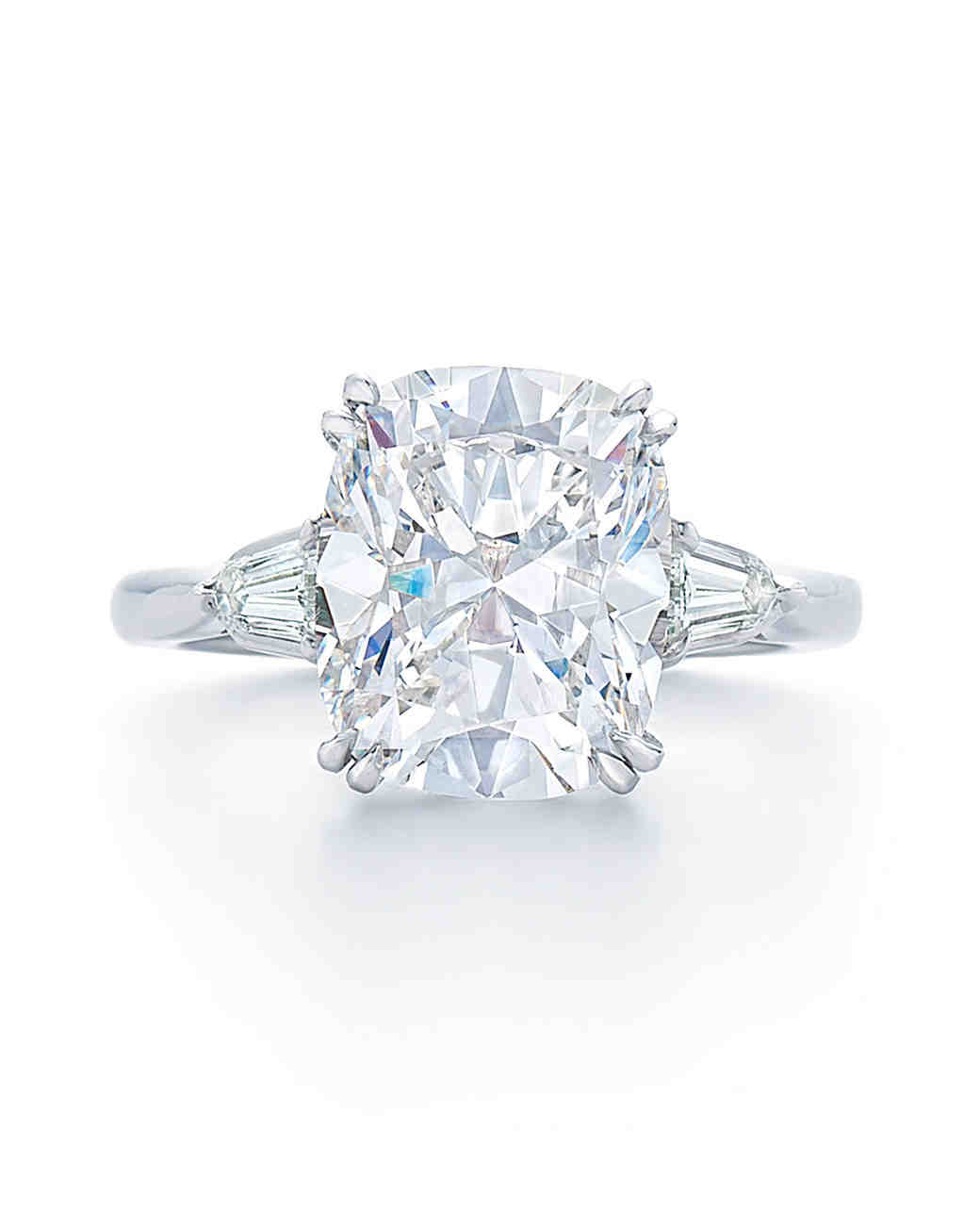 Kwiat Solitaire Cushion-Cut Diamond Engagement Ring