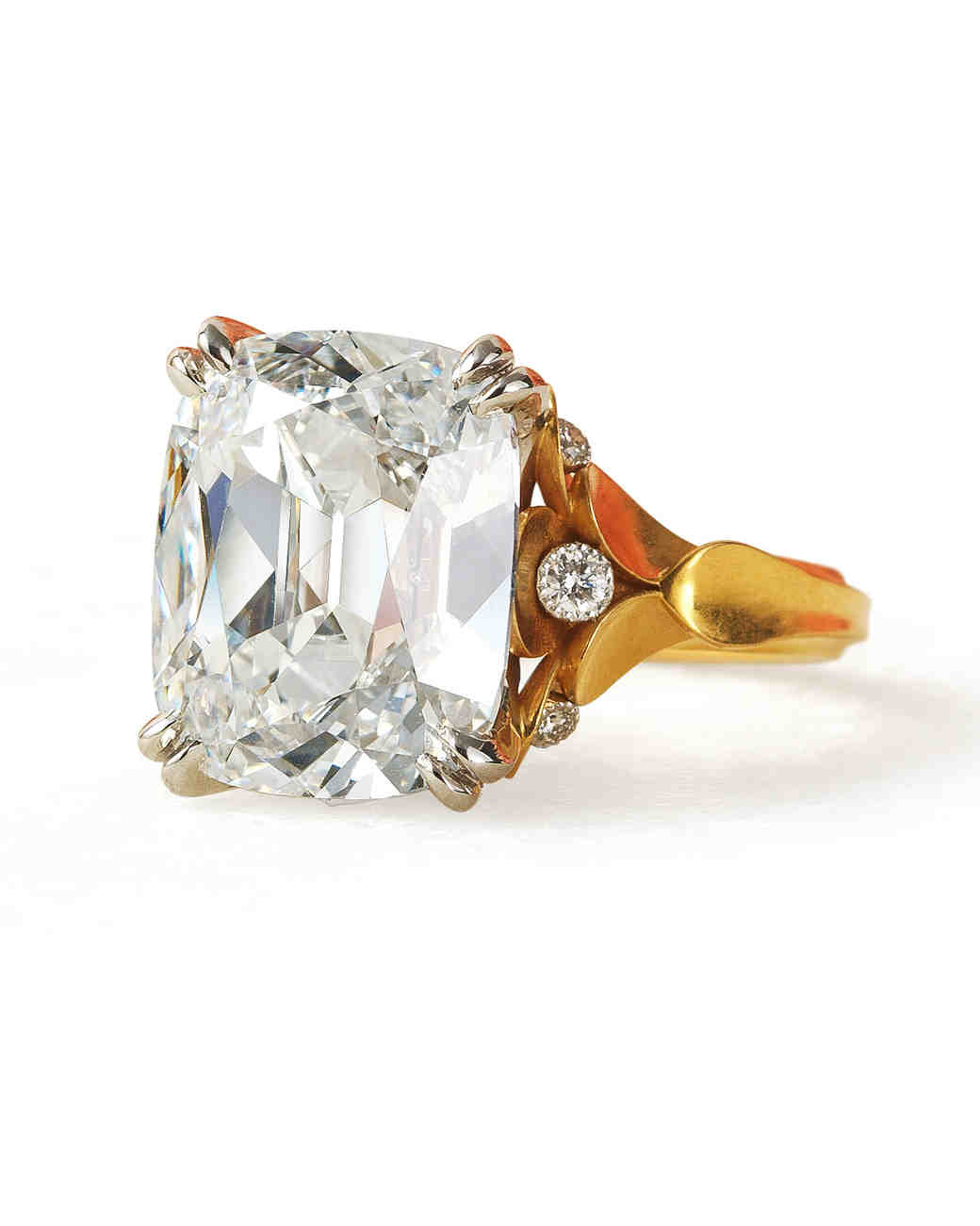 McTeigue & McClelland Antique Cushion Cut Diamond Classic Flora Ring