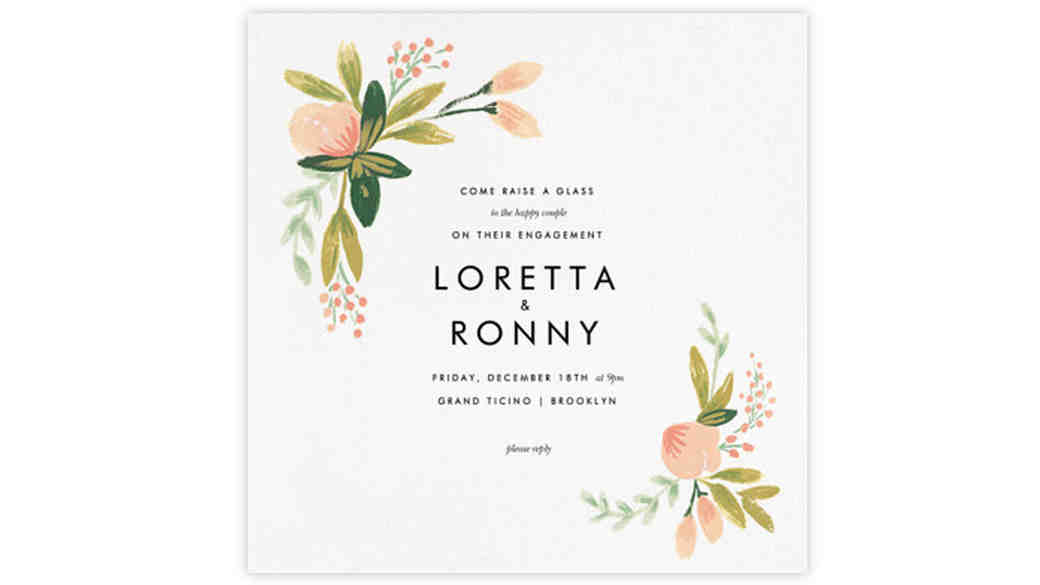 35 Paperless Engagement Party Invites
