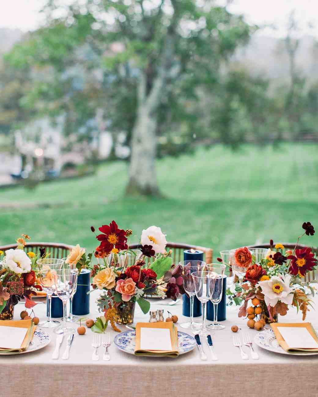 Fall Wedding Ideas Table Decorations: 84 Candle Centerpieces That Will Light Up Your Reception