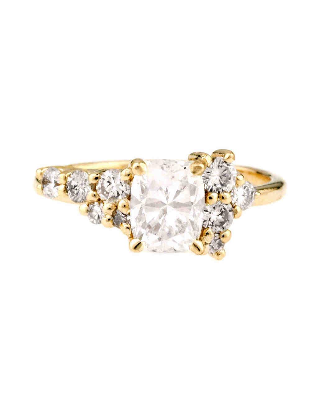 Bario Neal Cushion-Cut Cluster Diamond Engagement Ring