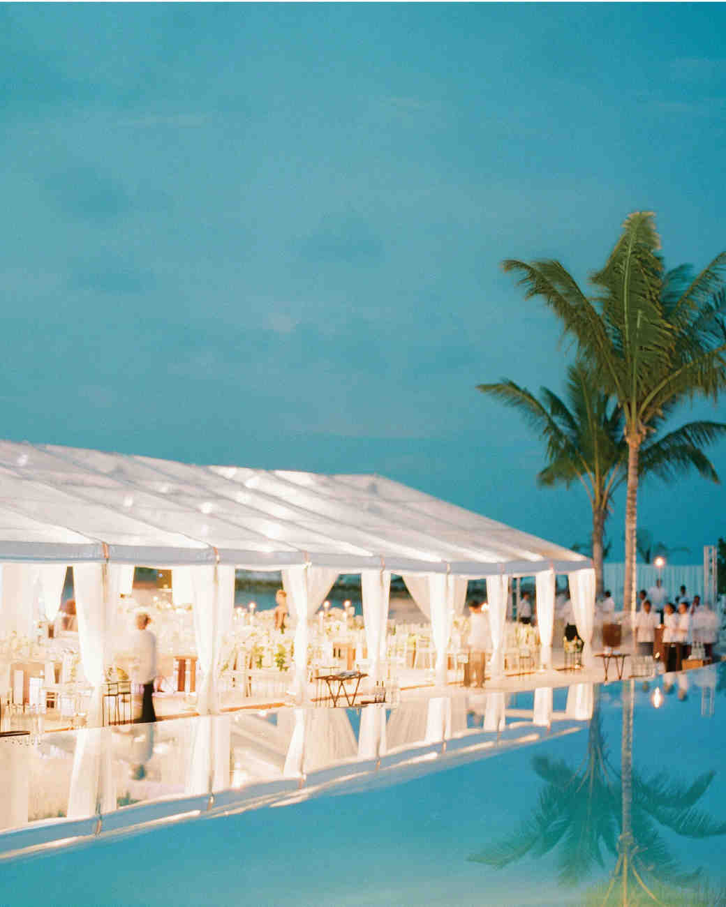 beach wedding reception tent