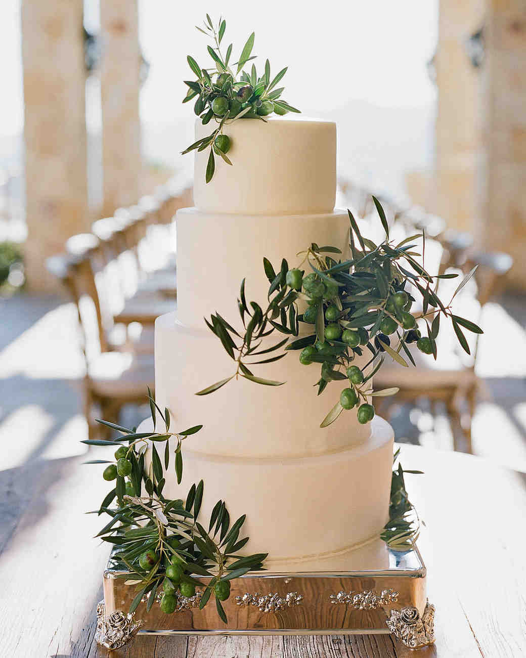aislinn eric wedding malibu cake buttercream frosting olive branches