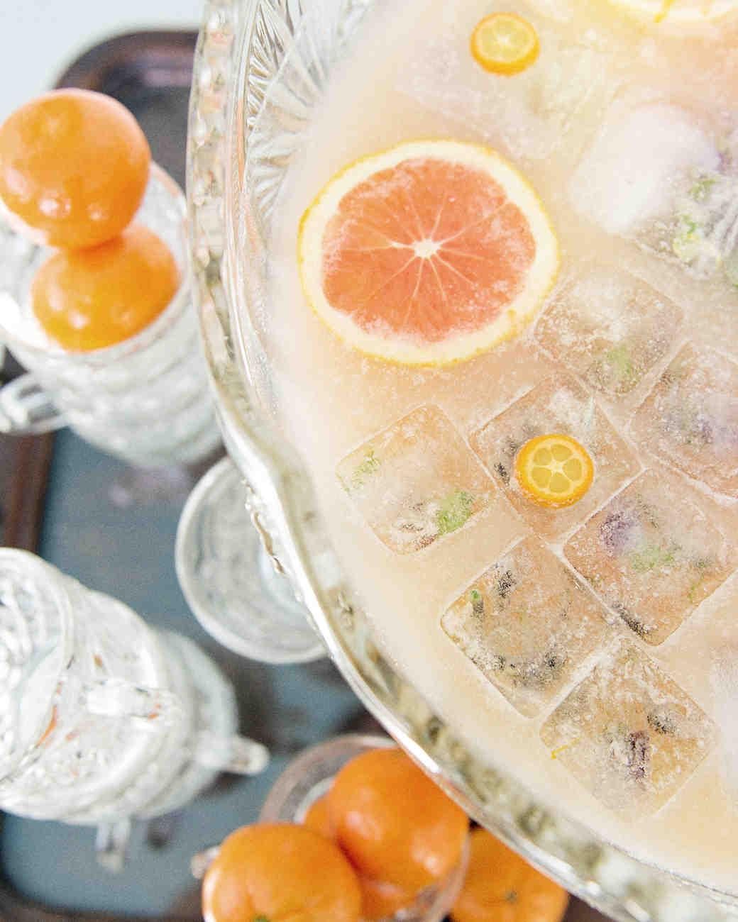 scavenger-hunt-bridal-shower-orange-champagne-punch-with-flower-ice-cubes-0315.jpg