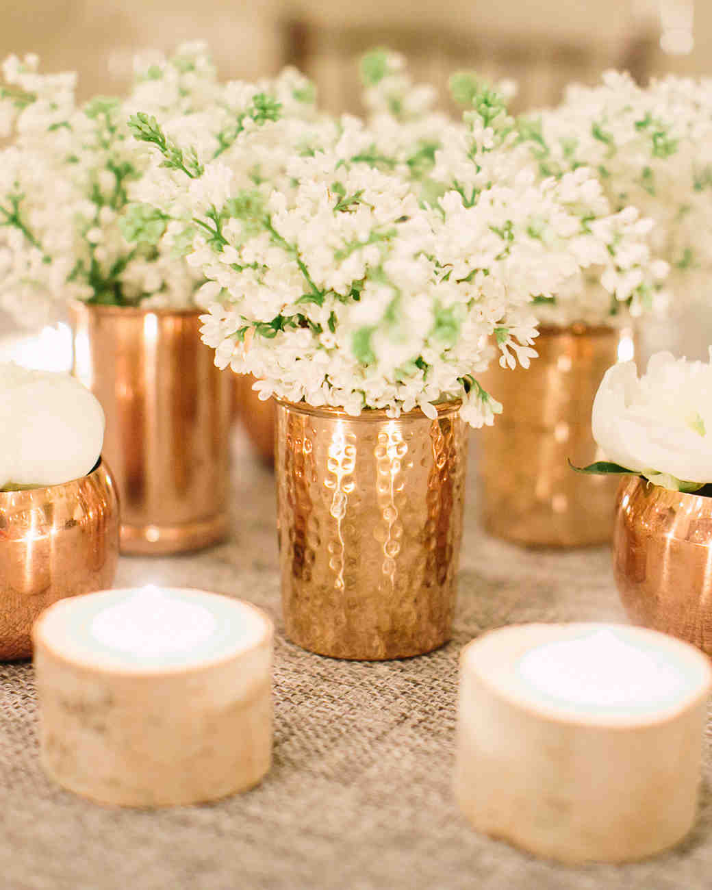 19 tips for throwing the ultimate winter bridal shower Wedding shower centerpieces