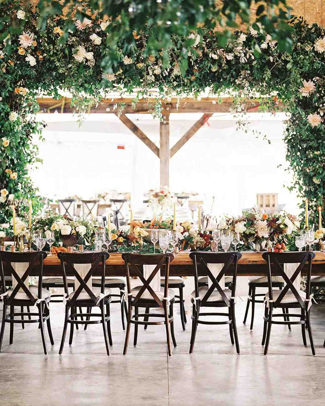 Lush Floral Long Reception Table