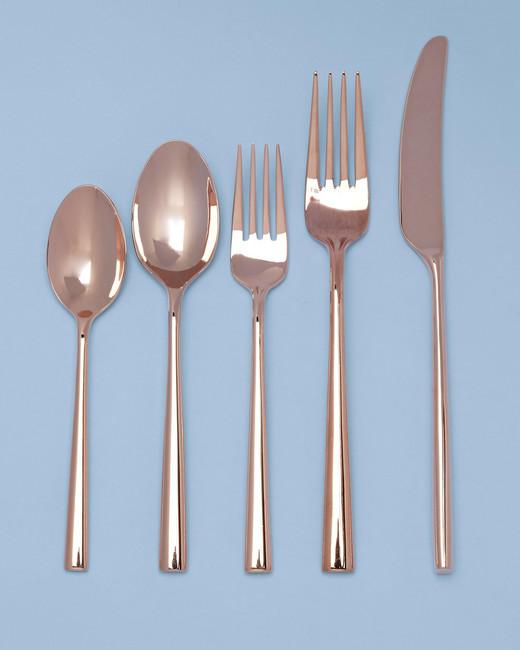 Rose gold flatware