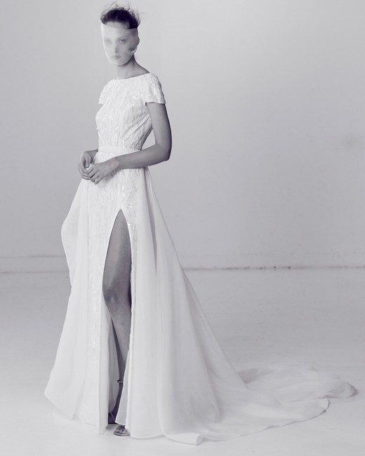 Alyne by Rita Vineries Short-Sleeve Wedding Dress Spring 2018