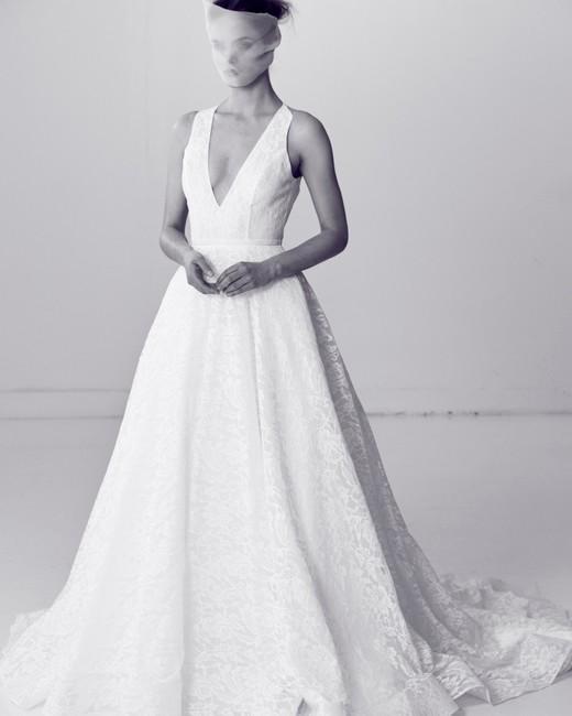 Alyne by Rita Vineries A-Line Wedding Dress with V-Neck Spring 2018