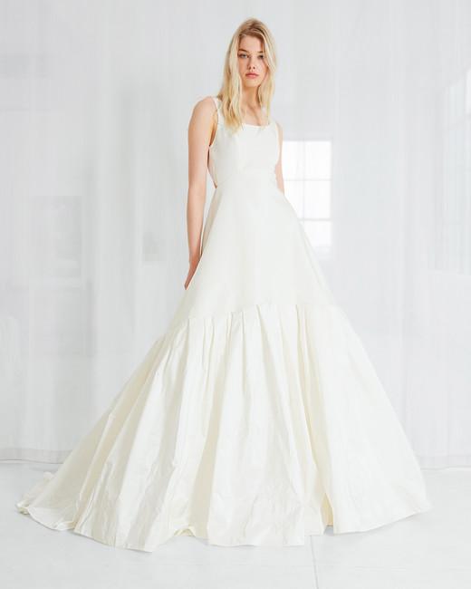 amsale a line simple wedding dress spring 2018