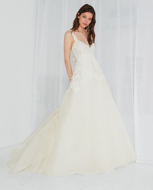 amsale lace a-line sweetheart wedding dress spring 2018