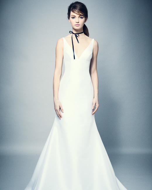 romona keveza wedding dress spring 2018 v-neck sheath