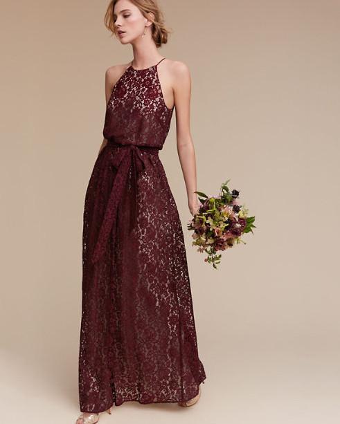 burgundy bridesmaid dress – bhldn alana