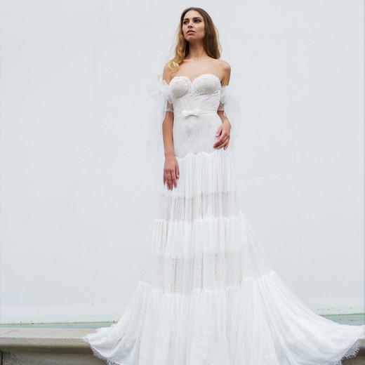 sheath sweetheart neckline persy wedding dress spring2018