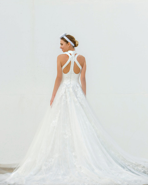 high neck a-line persy wedding dress spring2018