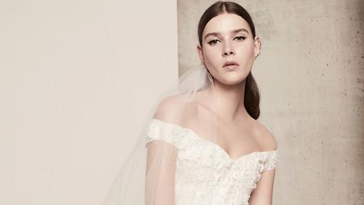 lace off-the-shoulder elie saab wedding dress spring 2018