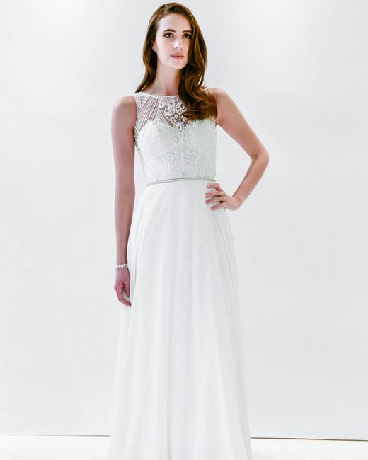 watters wtoo high neck embellished flowy wedding dress spring 2018