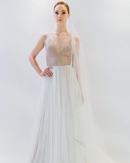 watters v-neck wedding dress spring 2018