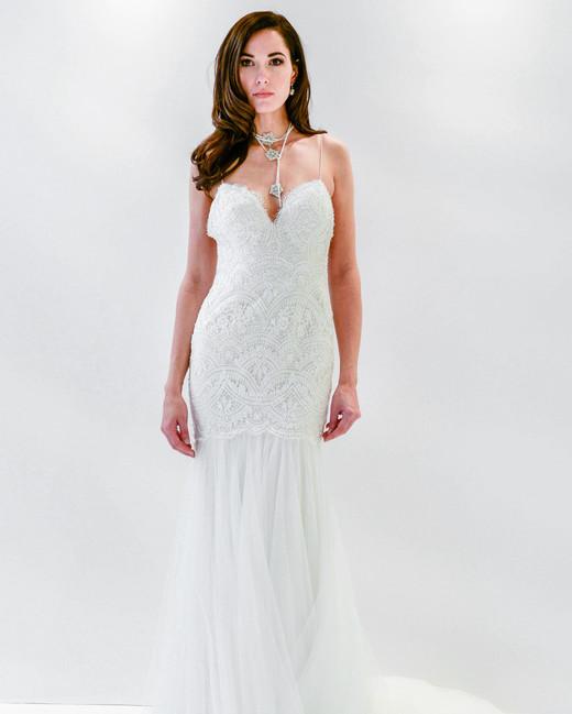 watters wtoo lace spaghetti strap trumpet wedding dress spring 2018