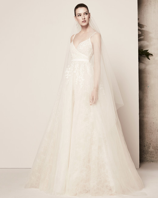 spaghetti strap a-line elie saab wedding dress spring 2018
