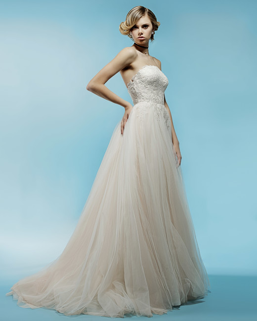 strapless tulle a-line ivy aster wedding dress spring2018