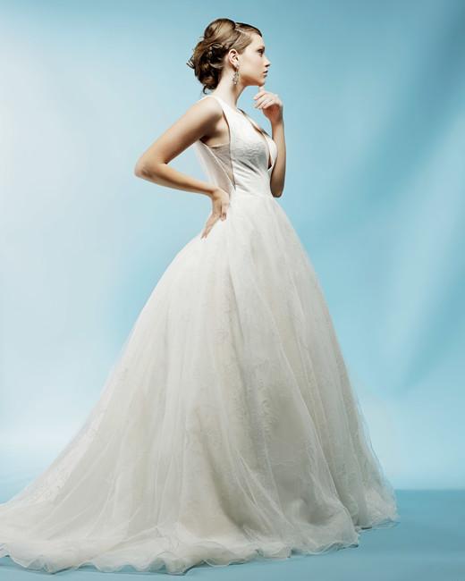 v-neck ball gown ivy aster wedding dress spring2018
