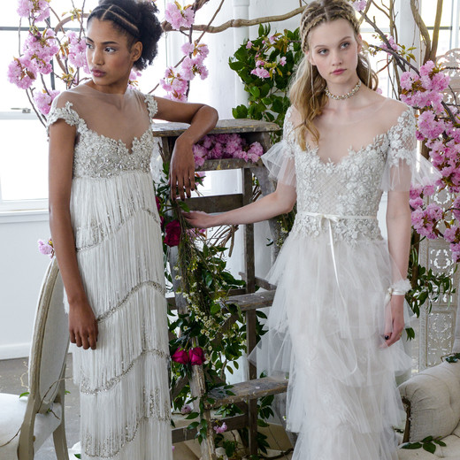 sheath illusion marchesa wedding dresses spring 2018