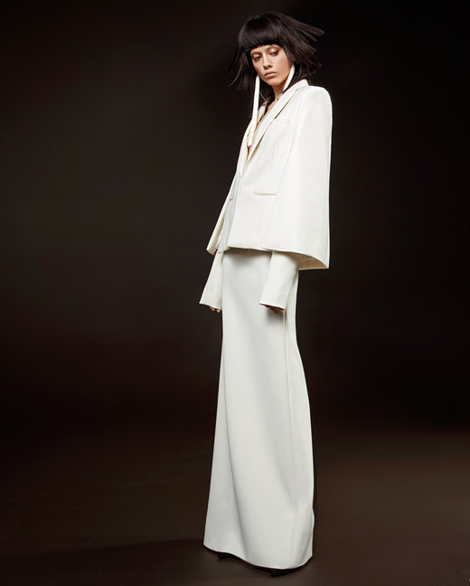 vera wang wedding dress spring 2018 long sleeve sheath jacket