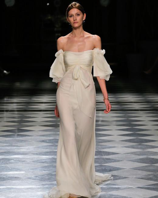 yolancris off the shoulder flowy wedding dress spring 2018