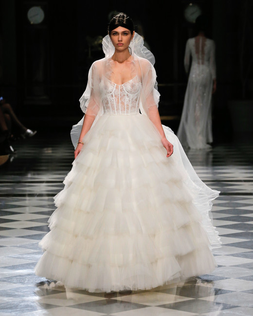 yolancris ruffles ball gown wedding dress spring 2018