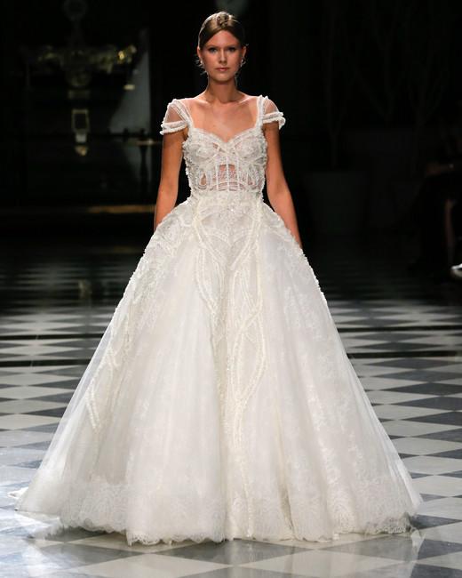 yolancris embellished ball gown off the shoulder wedding dress spring 2018