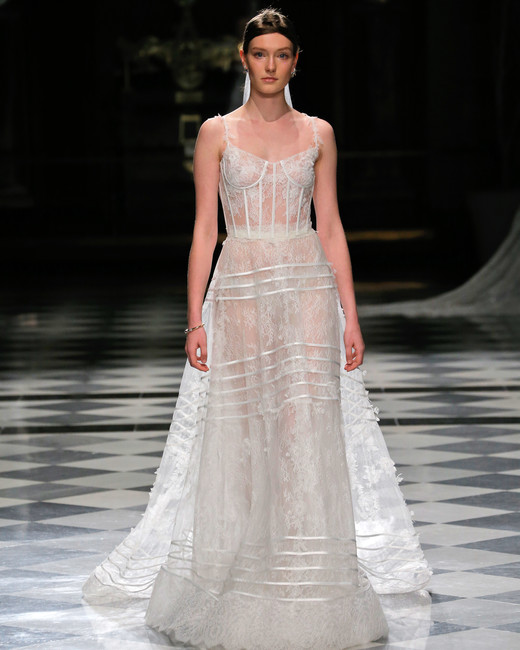 yolancris lace spaghetti strap sheer wedding dress spring 2018