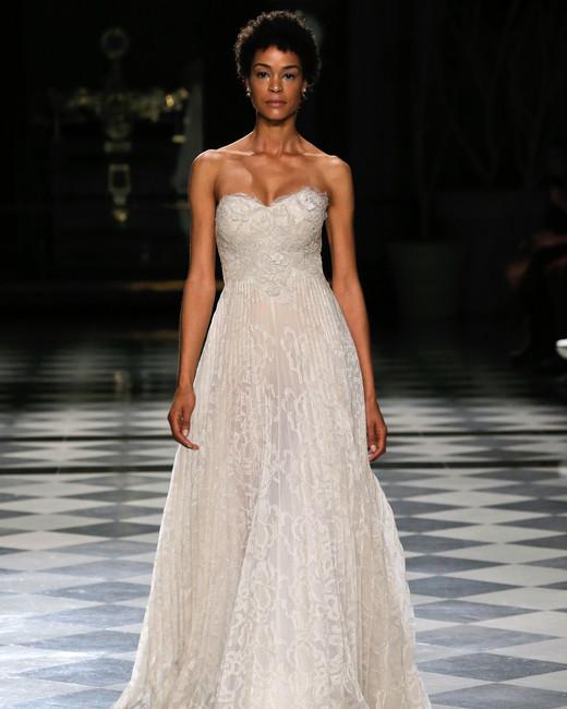 yolancris sweetheart lace a-line wedding dress spring 2018