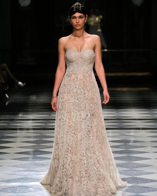 yolancris sweetheart lace color wedding dress spring 2018