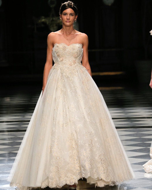 yolancris sweetheart ball gown wedding dress spring 2018