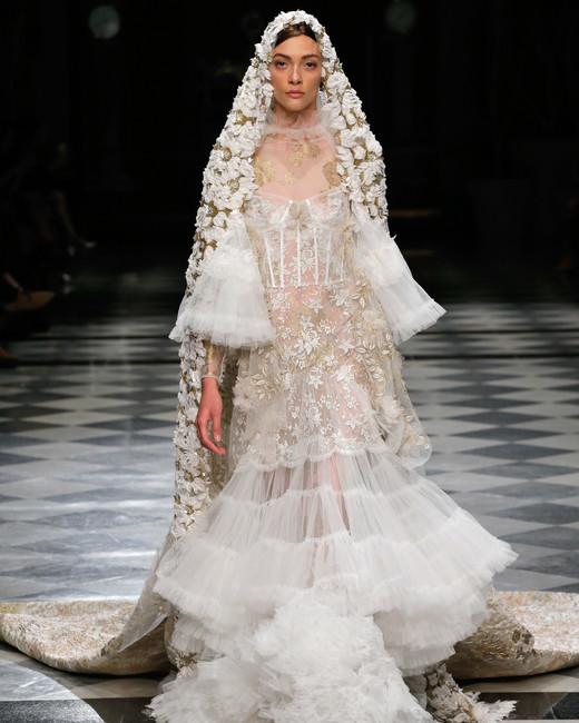 yolancris ruffles flower embellished wedding dress spring 2018