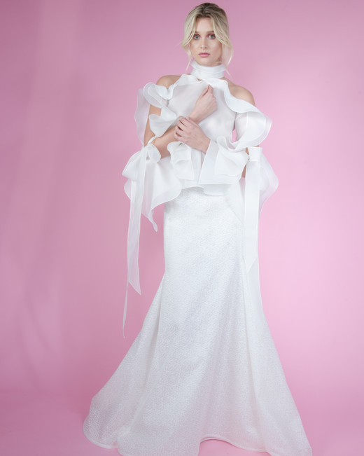 angel sanchez tulle spring 2018 wedding dress