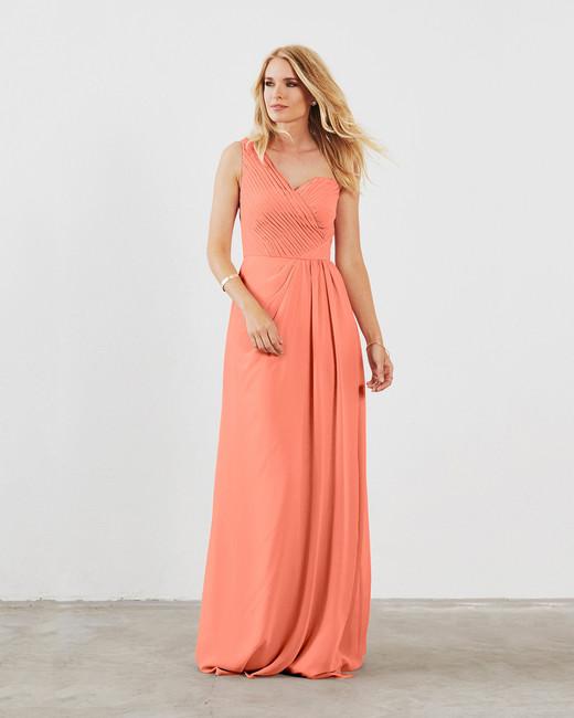 coral bridesmaid dress dova dahlia louisa