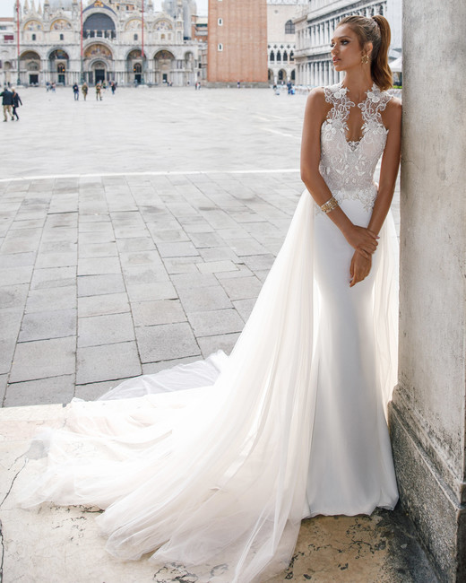 sleeveless lace julie vino wedding dress spring2018