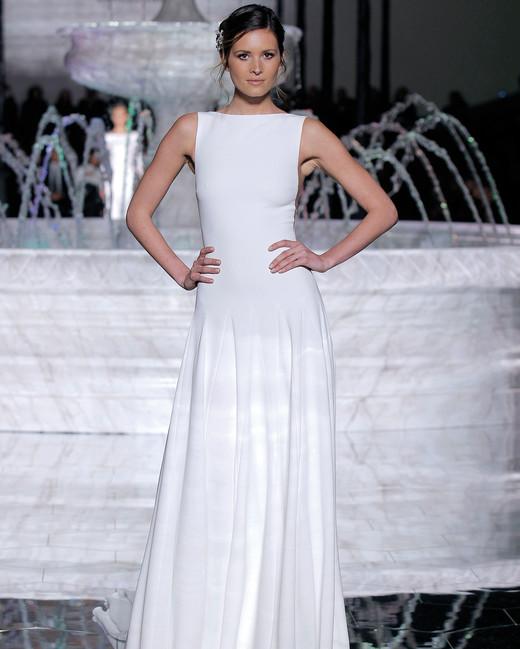 pronovias high neck wedding dress spring 2018