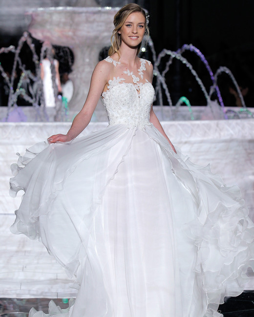 pronovias ball gown wedding dress spring 2018