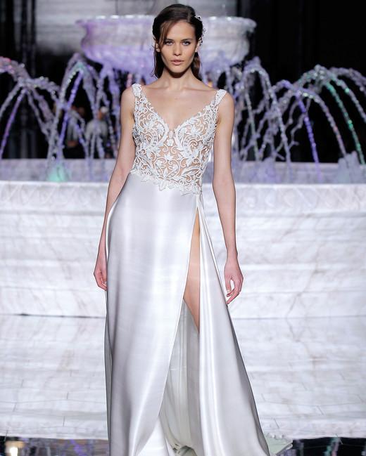 pronovias open skirt wedding dress spring 2018