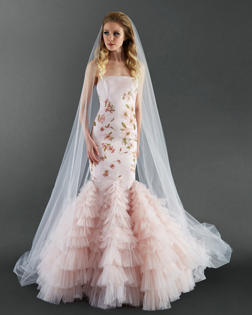 randi rahm pink floral wedding dress spring 2018
